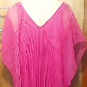 Vintage Fuschia pleated dress